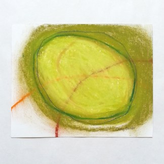 Green Circle with Orange Lines