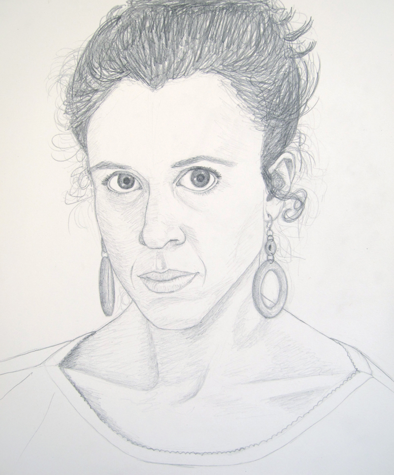 Self Portrait drawing by Cathy Durso