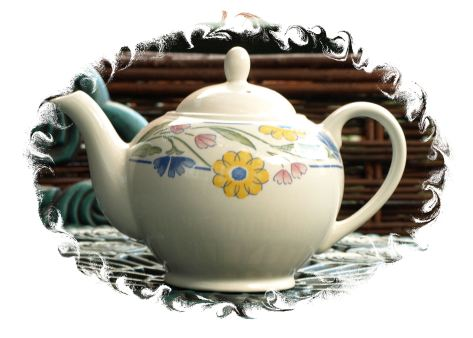 Vintage Summer Meadow Teapot