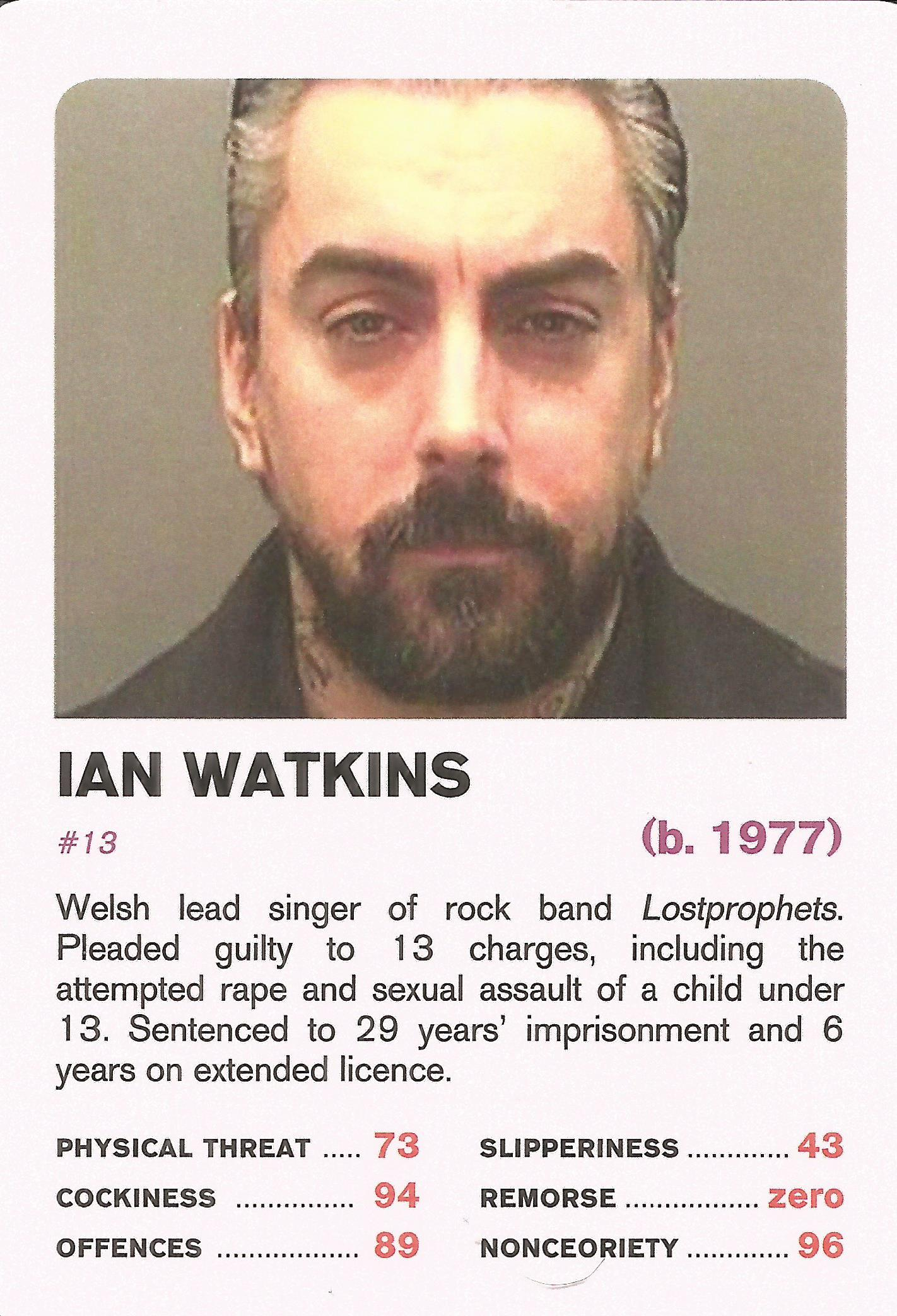 Top Trumps  British Nonces  High Quality  VICTIMS OF