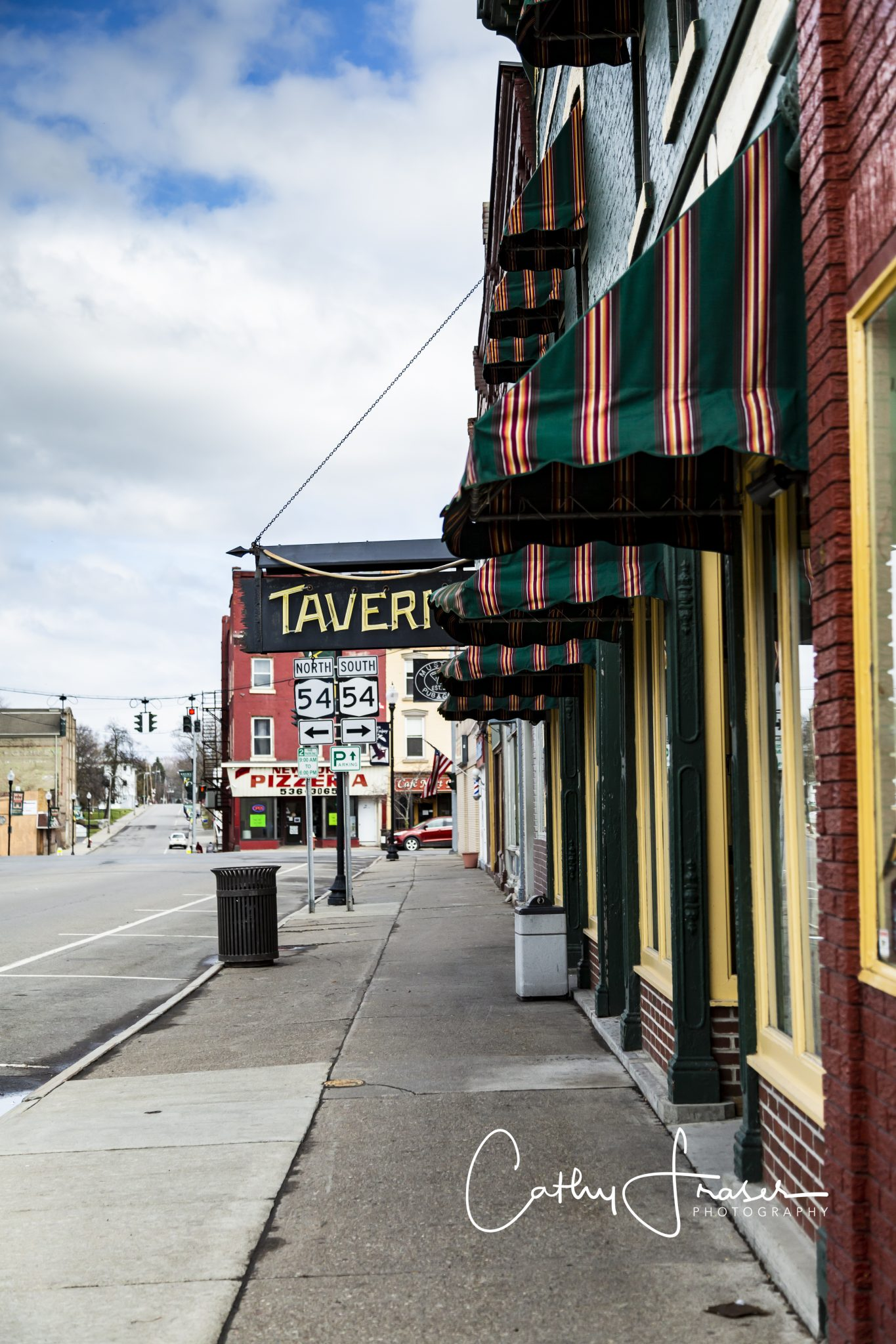 Landscape Photography of a streetview in Penn Yan New York