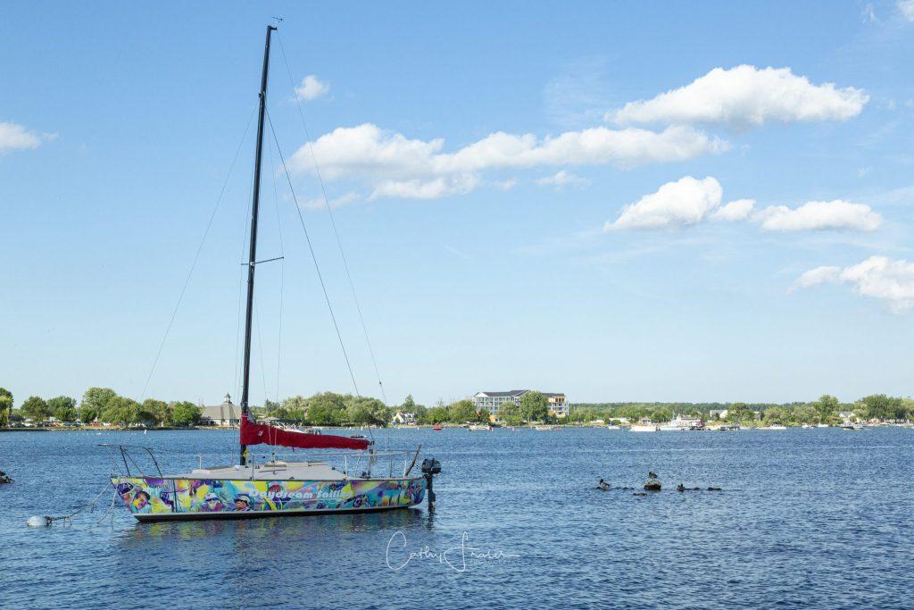 Landscape Photography of a boat on lake Canandaigua in New York