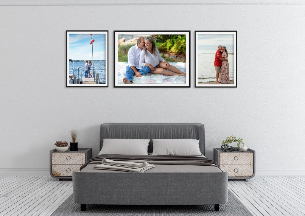 Lifestyle Photography grouping in bedroom of home
