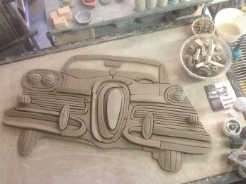 57 Edsel in raw clay 01-19-2014