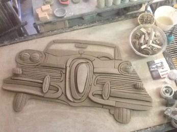 57 Edsel in raw clay 01-19-2014