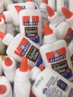 Lots of bottles of children's school glue.