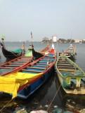 colourful fishing boats