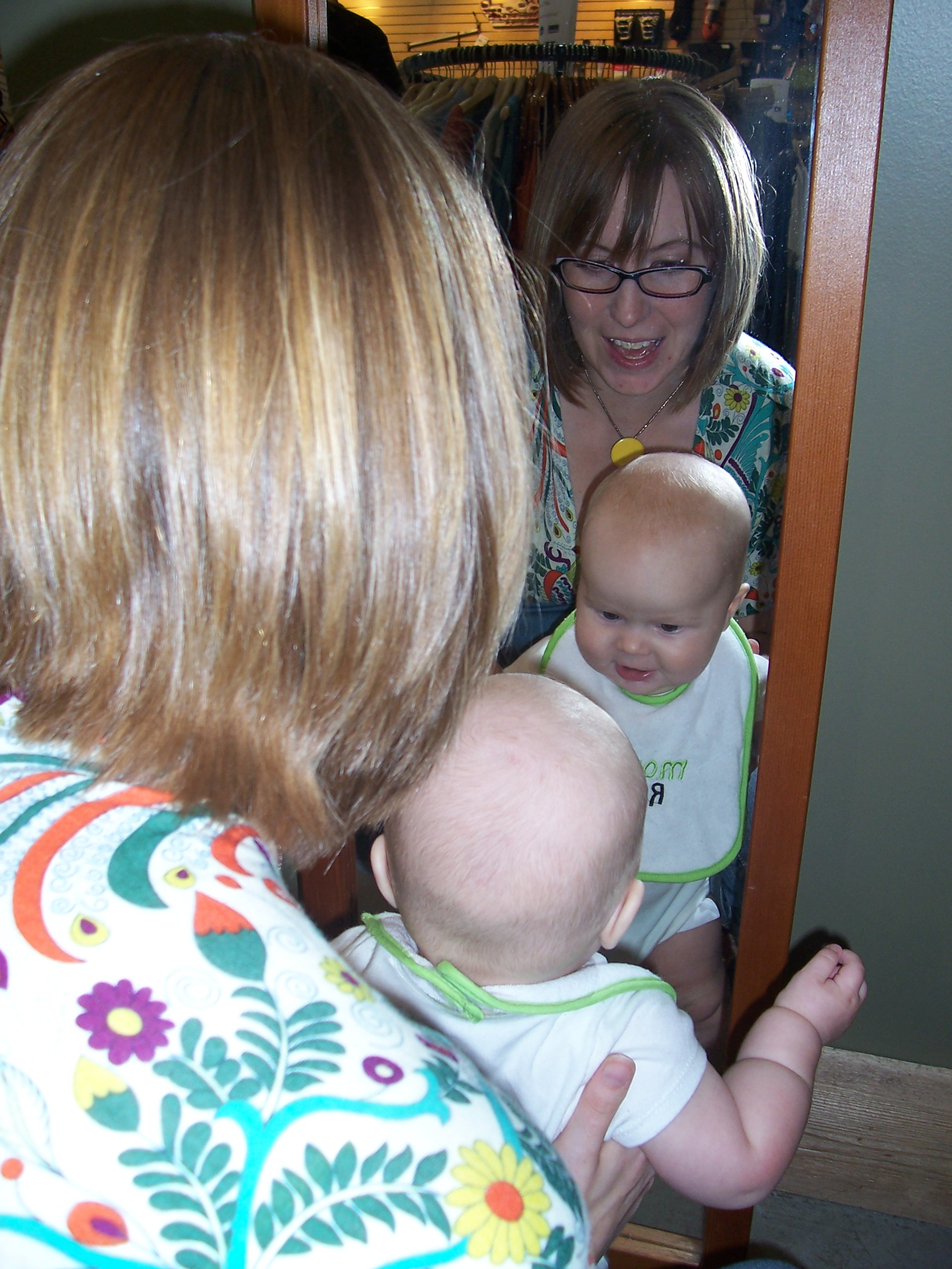 Older daughter, Liz, with her son and our first and so far only grandson, Nolan.