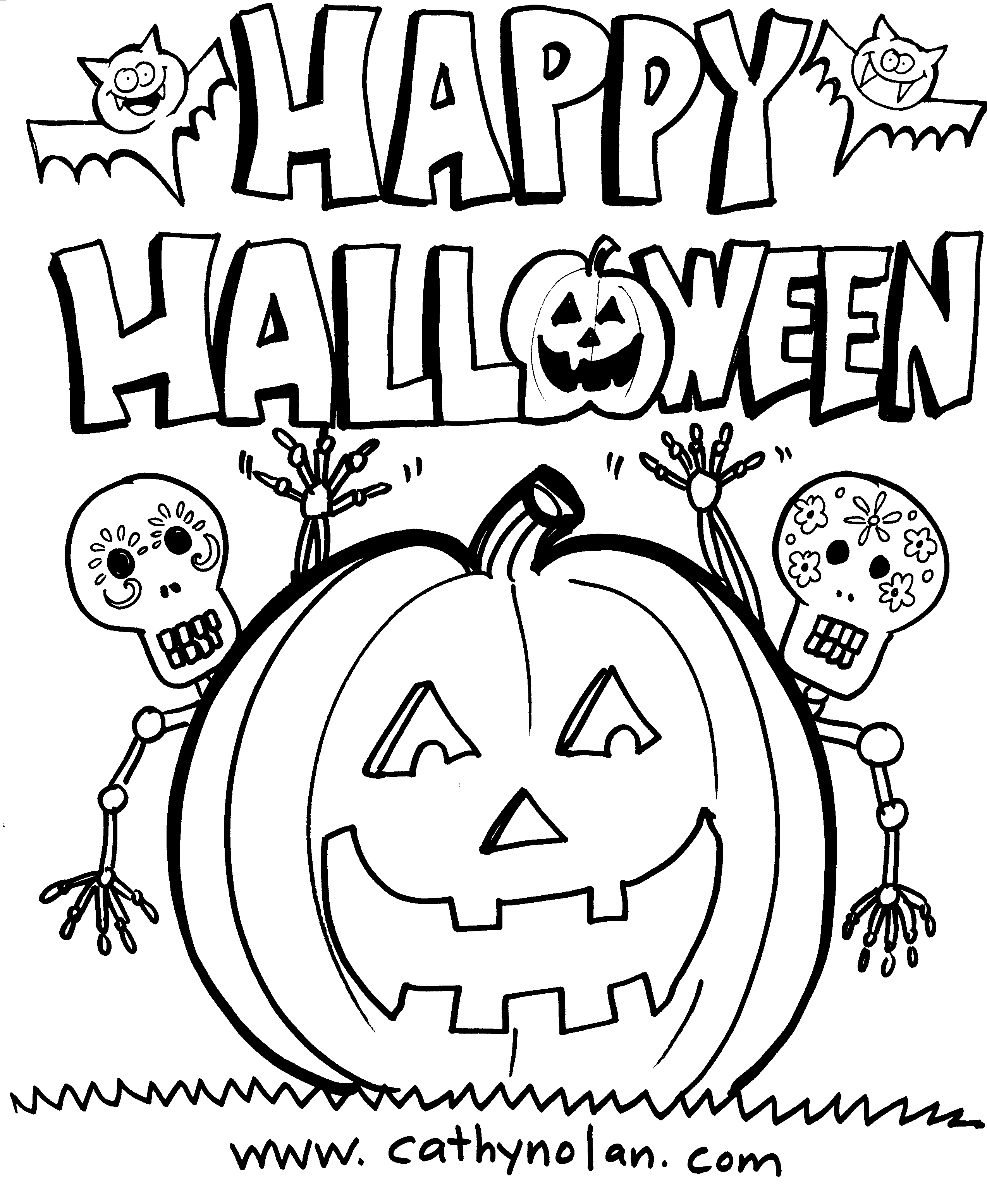 Downloadable Happy Halloween Coloring Sheets For The Kids