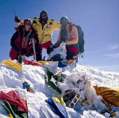 Cathy on Everest summit
