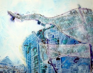 ©2011-Cathy-Read-Sculpture-Corporation-Street-Mixed-media-50.8x40.6cm