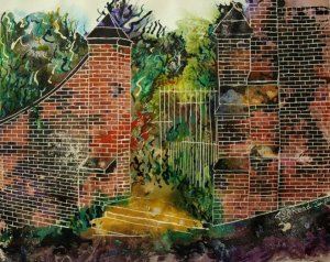 ©2010-Cathy Read- Gateway to eternity or Paradise - 50.8x40.6cm-Mixed media