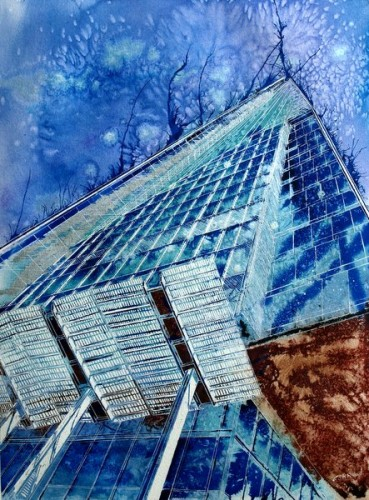 ©2012 - Cathy Read - The Shard is born- Mixed Media- 76x56cm