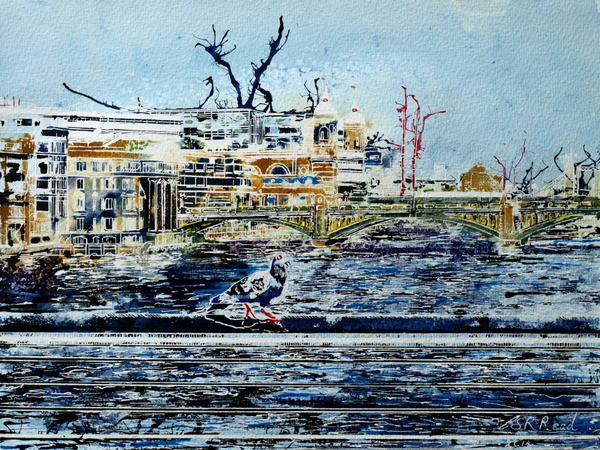 ©2014-Cathy-Read-Crossing-the-Thames-Watercolour-and-Acrylic-30.5x40.5-cm.jpg