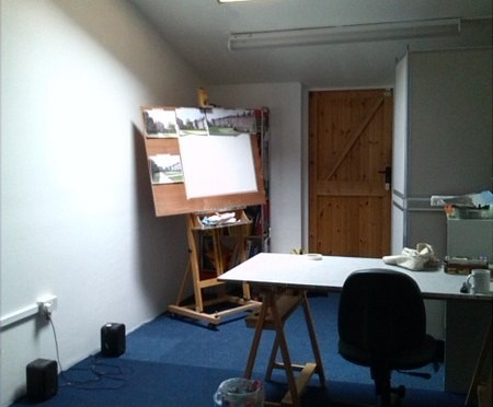 Tingewick Studio when I first moved in before modifications. ©2013 - Cathy Read -