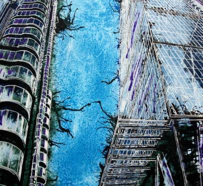 #LloydsBuildingPainting #Painting of the Lloyds Building #CheesegraterPainting #Painting of the Cheesegrater Fenchurch Street, the New Kid on the Block by Cathy S R Read