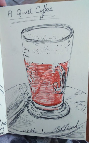 ©2015 - Cathy Read - Coffee - Inktober 1 sketch
