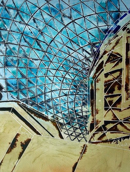 ©2011 - Cathy Read - Historical Spaces - 38cm x 28cm - Mixed media