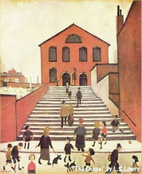 The Chapel, L S Lowry