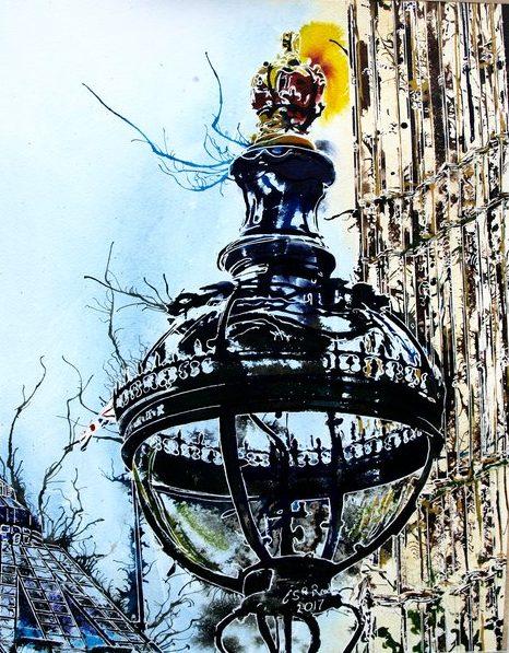 ©2017 - Cathy Read - Globe Light - 55 x 75cm_