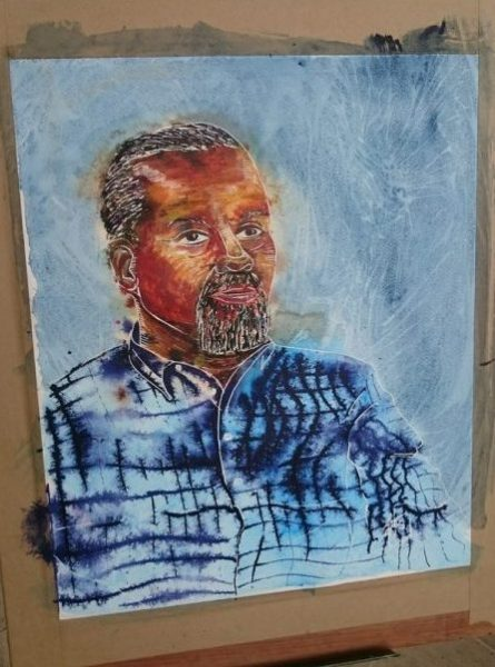 Gary Wilmot painting- ©2017 Cathy Read - Brush with Fame