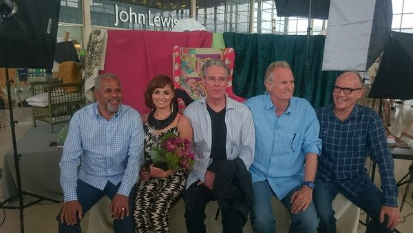 Gary Wilmot, Flavia Cacace, Michael Praed, Clive Mantle and Rupert Fawcett - ©2017 Cathy Read - Brush with Fame