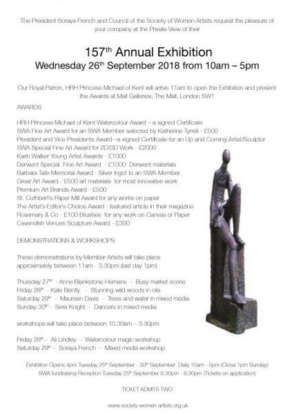 SWA Exhibition Private View Invitaion