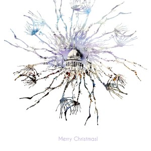 Christmas image from Cathy REad Art - Millenium Bridge Life Snowflake -©2018 Cathy Read