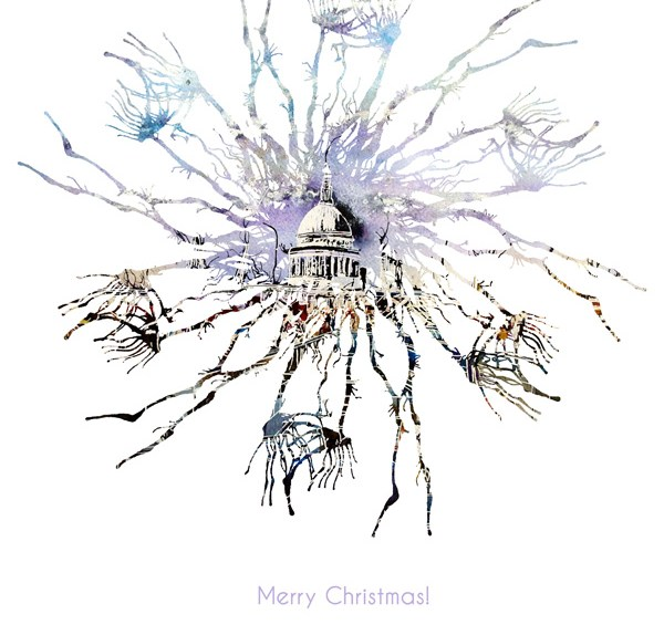 Christmas image from Cathy REad Art - Millenium Bridge Life Snowflake -©2018 Cathy Read