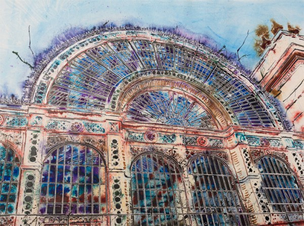Royal Opera House - ©2019 - Cathy Read - Watercolour and Acrylic - 56x76cm Painting of the Iconic building in London