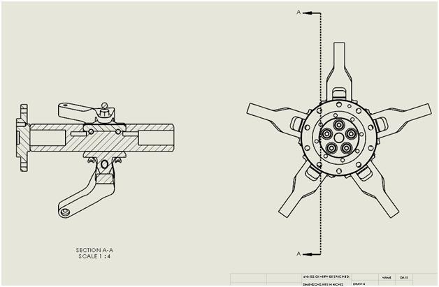 Modifying a Section Line in a SOLIDWORKS Drawing