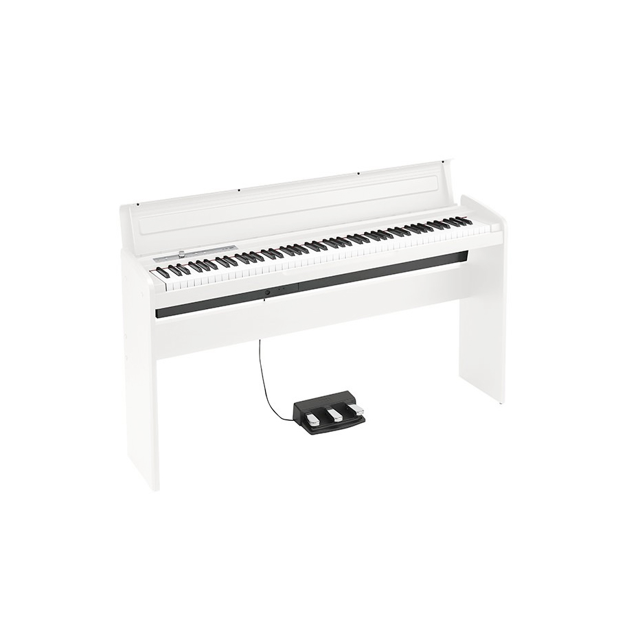 Korg LP-180 White Slim Digital Piano w/ Cover Stand and