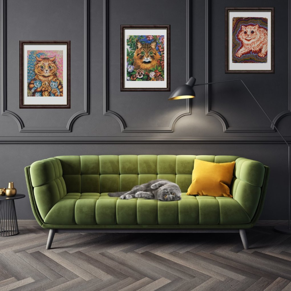 New Cheshire & Wain Collection Inspired by Famous Cat Artist Louis Wain Is A Must For Cultured Kitties