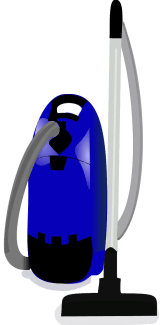 blue canister vacuum