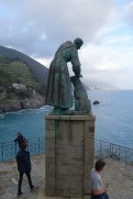 Statue of Saint Francis, patron saint of animals, outside Monterosso