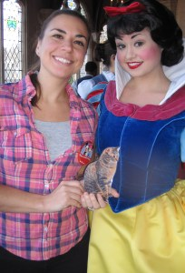 Me and Snow White. And MomFOD after only a few hours sleep. Princesses breakfast early!