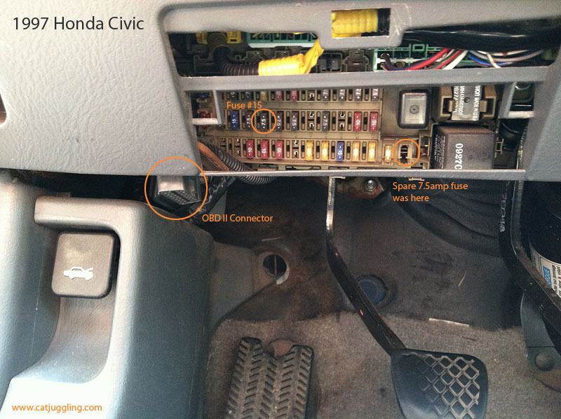 1996 Honda Civic Ex Fuse Box Diagram 1997 Honda Civic Fuses And Obd Ii Catjuggling Com