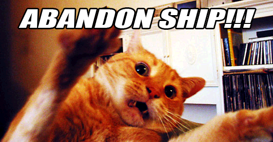 abandon ship sinking maritime titanic boat falling lol cat macro
