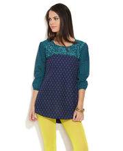 LOVELY LADY Ethnic Charm Kurti, dark blue, 36