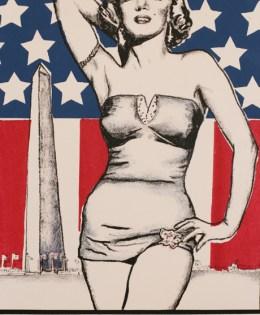 """American Mythologies #3: Size Doesn't Matter"" 2003, Screenprint, 12″ x 16″"
