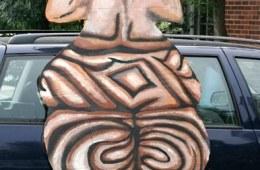 """Goddess Figure (Back)"" Play:The Serpent's Egg, Paperhand Puppet Intervention"
