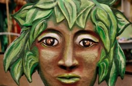 """Forest Goddess Head III"" Play: The Serpent's Egg, Paperhand Puppet Theater"