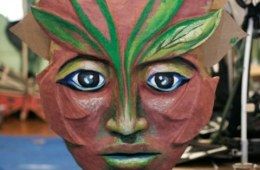 """""""Forest Goddess Head IV (In progress)"""" Play: The Serpent's Egg, Paperhand Puppet Theater"""