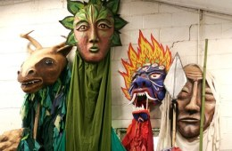 """""""Forest Goddess II with friends"""" Play: The Serpent's Egg, Paperhand Puppet Theater"""