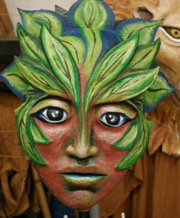 """Forest Goddess Head IV"" Play: The Serpent's Egg, Paperhand Puppet Theater"