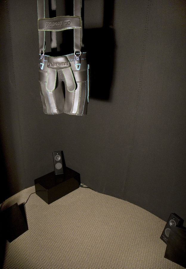Sculpture inside Mini-Cinema Installation