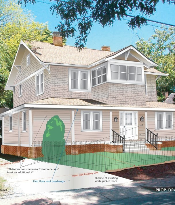 3-D Perspective Drawing- Residential addition