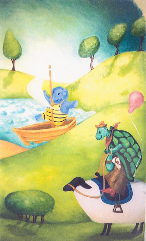 Turtle Mural Detail