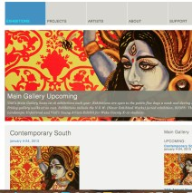"""K TO THE NTH, painting advertising the VAE's """"Contemporary South"""" Exhibition"""
