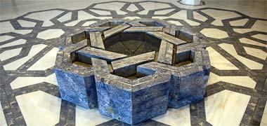 Seven point geometry utilised in the Ismaili Centre, Kensington, London